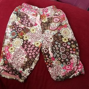 The Children's Place 3-6 mo Lined Floral Pants